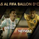 Finalistas al FIFA Ballon d'Or · Cristiano Ronaldo · Lionel Messi · Neymar https://t.co/1klgrvAK6N #BallondOr https://t.co/064BlEBKbe