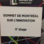 5ie sommet de Mtl sur linnovation aujourdhui!changement climatique @QIMontreal @Concordia https://t.co/UMqnYyH16u