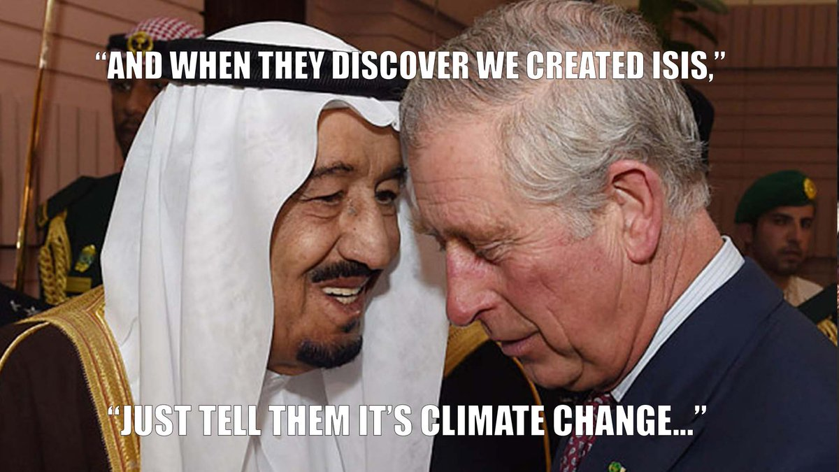 The same monarchies who are blowing up the Middle East want to save the planet from climate change? Right. #COP21 https://t.co/TAjnKjAmCB