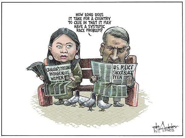 This week's editorial cartoon by @deAdder What systemic race problem? #cdnpoli https://t.co/CZiCbnJzLt