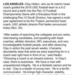 Clay Helton did it - he is your #USC football coach ... https://t.co/Fsn9ukH9rP