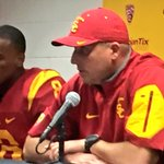 Less than 48 hours removed from USC beating UCLA, Clay Helton is named head coach @USC_Athletics https://t.co/XH3WuQEHLr