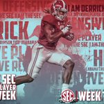 He broke six Bama records on Saturday. This man is an absolute beast. Offensive Player of the Week: DERRICK HENRY. https://t.co/IrDqZ6VacX