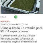 No entiendo porqué olimpia no juega en el estadio que le regalo recanate. ???? @julioirrazabal @CCA1912 https://t.co/1vu4EPQx0O