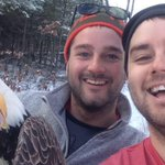 Ontario brothers free bald eagle from trap; snap ultimate selfie https://t.co/F6KdbbSWKD https://t.co/IFtpz9BJTJ