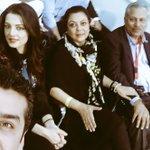 The ICC Box Zaheer Abbass, Sam Abbass & bollywoods @CelinaJaitly at #PakVsEng Sharjah game @TenPakistan @ten_sports https://t.co/DrLlQCYdXc