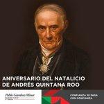 Un día como hoy en 1787 nace Don Andrés Quintana Roo, ilustre político yucateco siempre al servicio de la patria https://t.co/V34o6knLCE