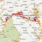 FLOOD WARNING - River Wye - Hay to Hereford Rising quickly now, peaking through tomorrow https://t.co/HnIbXqTj6H https://t.co/EzfZStEMHb