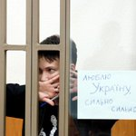 Kidnapped Ukrainian pilot #Savchenko in Russian court today: l love #Ukraine so much! #FreeSavchenko https://t.co/NYMkSyXGiT
