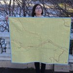 And done! The #yyc baby quilt: roads and #yycbike paths and c-trains! Oh my! https://t.co/GodSxX0F4p