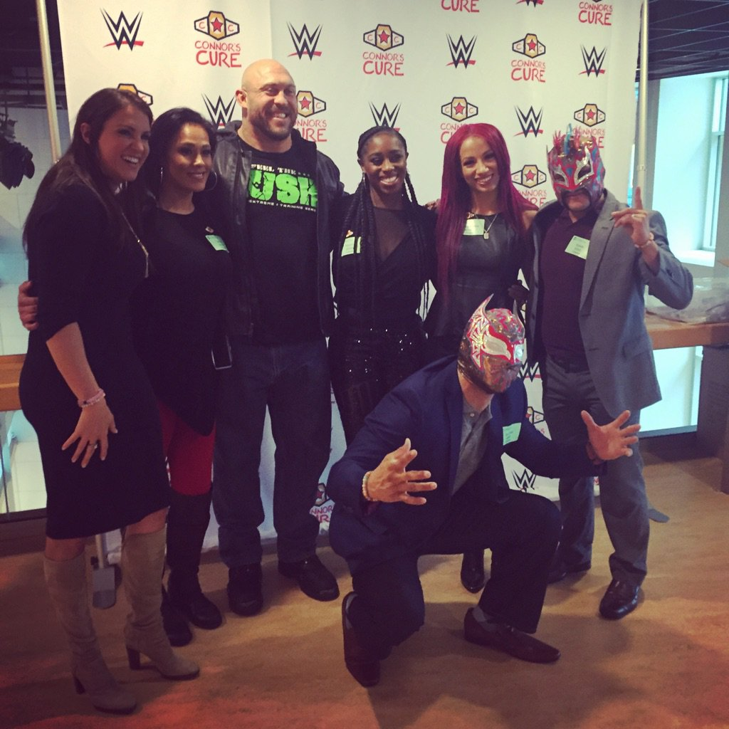Thanks @wwecommunity for stopping by to visit our kids & raising awareness for pediatric #cancer & @connorscure! https://t.co/jy0ACRQGvl