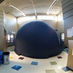 The planetarium went to @Samuelwshaw School in #Calgary last week. #yyCBE Image Credit: Caileigh from @mountroyal4u https://t.co/HibGJDMDPg