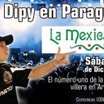 ¡La mexicana bar de Luque te espera este sábado 5 de diciembre para el recital del Dipy Papa desde Argentina! https://t.co/cUJTXBUrm3