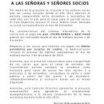 COMUNICADO A LAS SEÑORAS Y SEÑORES SOCIOS DEL CLUB OLIMPIA. 30/11/2015 https://t.co/pMYlvMj8fC
