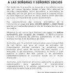 Información importante para los socios y no socios del #OLIMPIA https://t.co/nbXHL5RCeZ