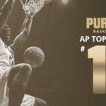 ICYMI: #Purdue now 11th in the AP Poll, highest ranking since being No. 9 on March 7, 2011. #RememberTheName https://t.co/NXa163xZ3J