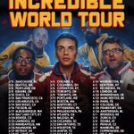 Very excited to announce #TheIncredibleWorldTour. Tickets on sale this Friday! https://t.co/fRkxc3a8I7