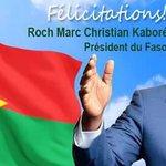 Félicitations à lélection du  nouveau Président du #BurkinaFaso #élections https://t.co/CeWYVd0eG5