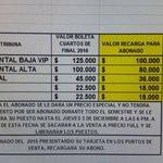 Así es la cosa para el juego de @JuniorClubSA vs @SantaFe por los Play Off de @LigaAguila este domingo en el Metro. https://t.co/gO4gToRJdb