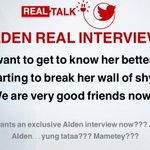 "Who wants an Alden interview now??? I doubt he will answer the ""status"" question though. *wink* #ALDUBDejaVuLove https://t.co/61uocqxdxR"