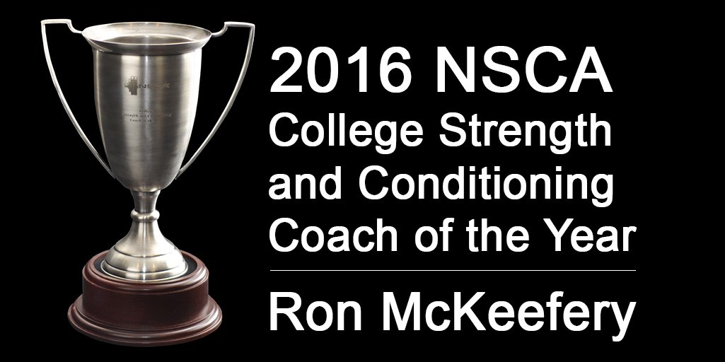 Congratulations to @RMcKeefery, 2016 NSCA College Strength and Conditioning Coach of the Year! https://t.co/93XhL42EBT