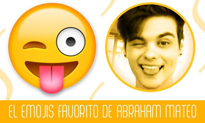 Sabían que el #Emojis favorito de @AbrahamMateoMus es el del guiño sacando la lengua. ¿Apoco no es igualito? https://t.co/JKoscjIShr