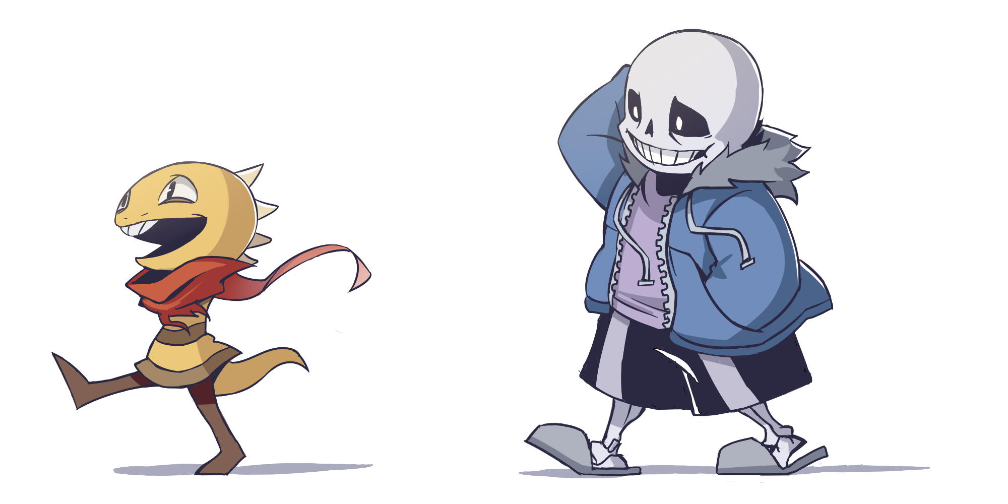 monster kid and sans from #undertale, for an art trade with @RinTheYordle https://t.co/l4wk6PqTxw