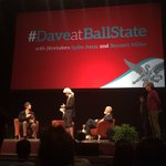 Two lucky students are acting out Daves scene on stage with Dave, Spike and Bennett. #DaveatBallState https://t.co/K1xecnhxau