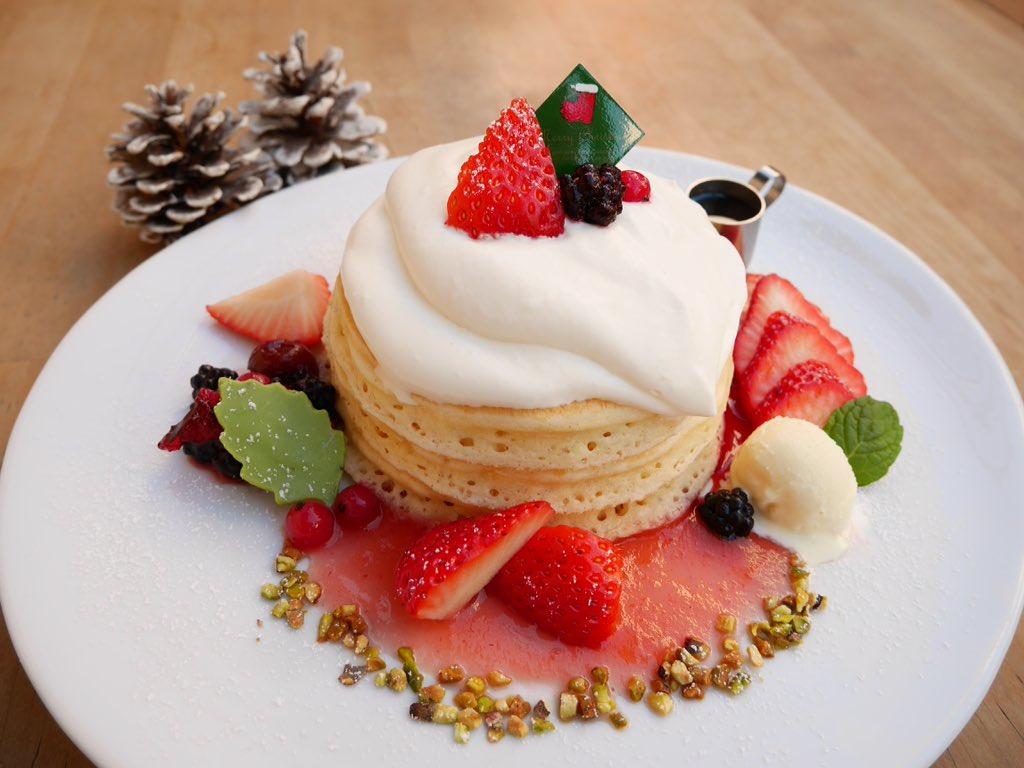 パンケーキママカフェVoiVoi三軒茶屋 2日より「ジャージークリームと苺のクリスマスパンケーキ」スタートです! https://t.co/bOlVagAkeA https://t.co/F565Qy7kJp