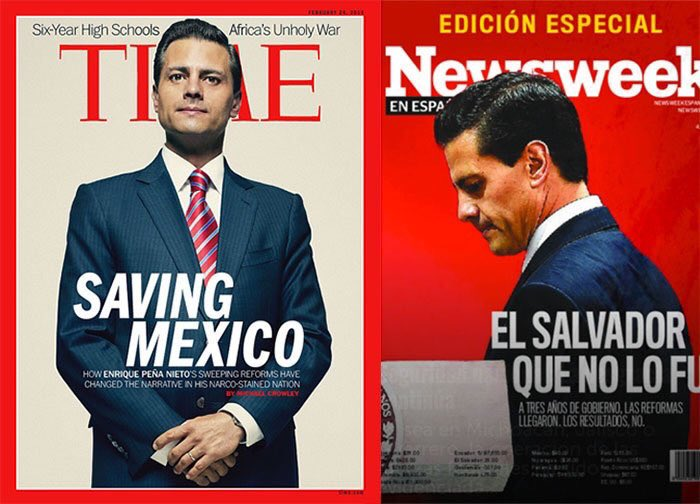 """La revista The News Week le da un duro revés a Time por su portada """"Saving Mexico"""" Una pena de sexenio... https://t.co/B3p9hOjWVr"""