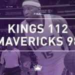 FINAL: Kings 112, Mavericks 98. #KingsFTW https://t.co/ywc8noHwxX