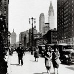 View looking north on Park Avenue from 33rd Street, 1929. The Chrysler Building is nearing completion #NYC #history https://t.co/5Gf3fJlnmx