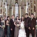 """SANA MANGYARI"" Wedding photo. Si Baby Matti nalang po yata yung kulang @macmendoza75  @R_FAULKERSoN @mainedcm    https://t.co/maNrYZDqwO"