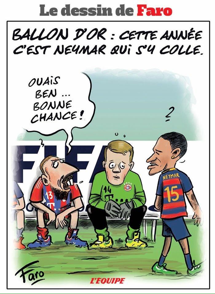 Cette année c'est Neymar qui s'y colle... (Via @lequipe) https://t.co/fFeqgrfdIm