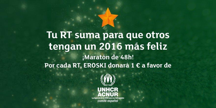 Haz RT y comparte la #EstrellaSolidariaEROSKI. 1 RT = 1 € a favor de @eACNUR ¡Tienes 48h! https://t.co/um7DlbYvZl https://t.co/5oNDyqv3C2