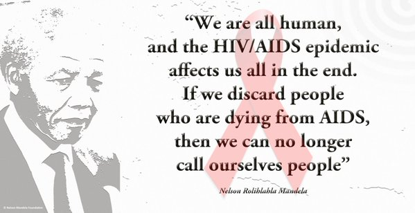 This #WorldAidsDay let's all Rise, Act & Protect. Pic: @NelsonMandela https://t.co/INdpQY90WE