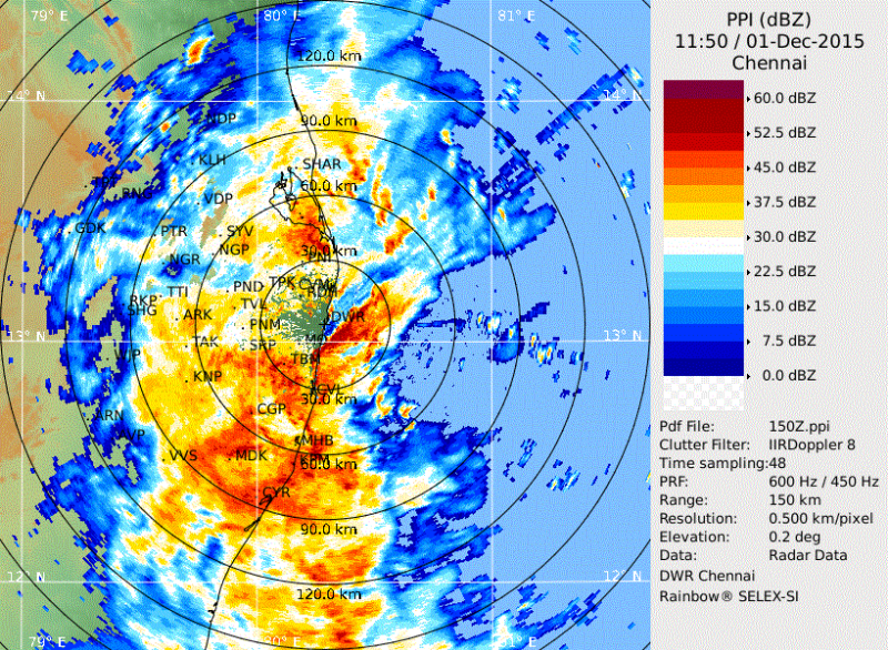 #chennai - 6pm, no end in sight ! Its pouring in Polichalur zone. Rainfall 221.7mm from 6am. #iwm https://t.co/G2nNDOR3Hk