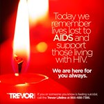 Today we remember lives lost to AIDS and support those living with HIV. #WorldAIDSDay https://t.co/Tzv4EvhDR5 https://t.co/WcyrXSvFWz