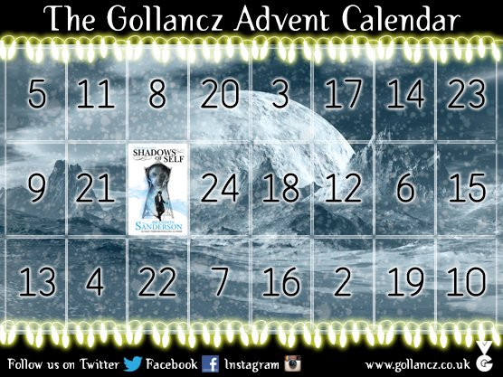 It's the return of our Advent Calendar! To enter to win today's featured title #ShadowsOfSelf RT by 23.59pm tonight https://t.co/Nr3CnVokgw