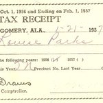 10 years before Montgomery Bus Boycott, Rosa Parks had to pass literacy test & pay poll tax to register to vote https://t.co/lVb8Ihmb59