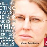 Shadow Defence Minister @RachaelMaskell opposing air strikes after receiving >1000 emails & tweets #DontBombSyria https://t.co/zsWME26ysB