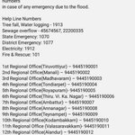 #chennairains - Emergency helpline numbers! RT https://t.co/Mb9Cys5TFo