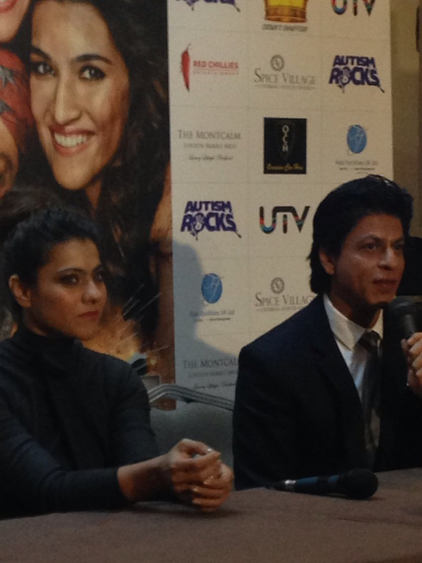 These 2 NOW! #Diwale #PressConference #Bollywood #London #Kajol #ShahRukhKhan https://t.co/NCjNqzjYQY