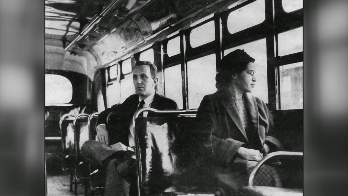 60 years ago today #RosaParks refused a bus driver's demand that she give up her seat for a white man #rosaparksday https://t.co/6BeRe7Bhab