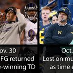 The Harbaugh brothers have been on opposite ends of shocking finishes this season. https://t.co/XFz4RVoxKQ