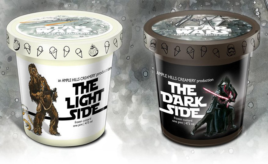 And now there's #StarWars ice cream. https://t.co/x6aZIpU5Bz #TheForceAwakens https://t.co/iiNODM6pCB
