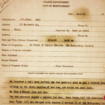 Rosa Parks was arrested 60 years ago today for not giving up her bus seat. This is the police report. #busboycott60 https://t.co/fFKpkhgeGw