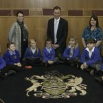 Pupils from @BramleyJunior quizzed Leader @christophe_read at Rotherham Town Hall last week https://t.co/puqQX6WVsR https://t.co/T13Gf03WqP