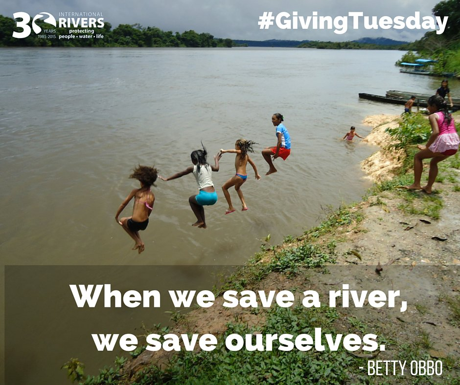 RT @intlrivers: It's #GivingTuesday! Gift the gift of healthy #rivers today: https://t.co/byRi3j0dA3 https://t.co/Ee5qW53KzK