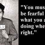 """""""....never be fearful."""" - Rosa Parks https://t.co/p45HvSl4MY"""